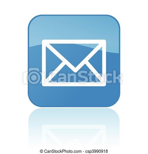 courrier, bouton - csp3990918