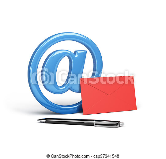 courrier, concept, électronique - csp37341548