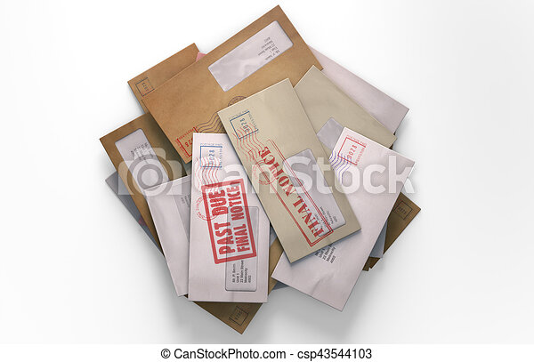 courrier, pile - csp43544103