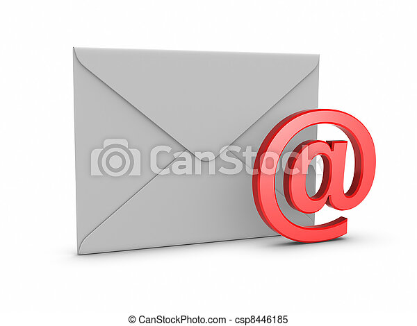 courrier, symbole, @ - csp8446185