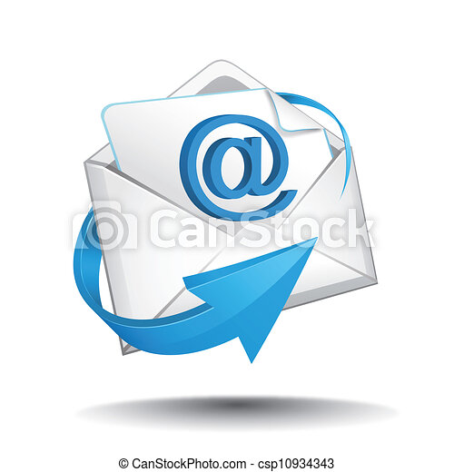 courrier, vecteur - csp10934343