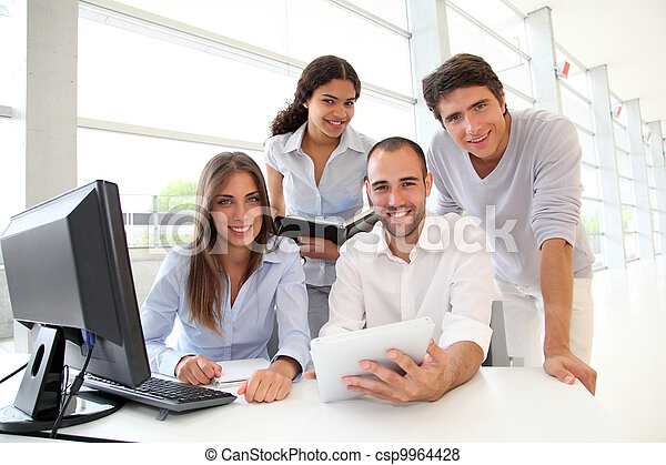 cours, formation, groupe, jeunes - csp9964428