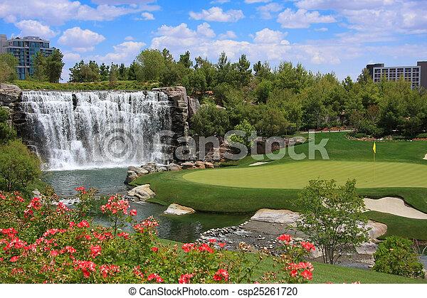 cours, golf - csp25261720