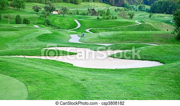 cours, golf - csp3808182