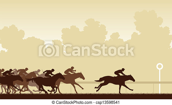 course chevaux - csp13598541