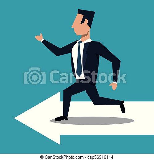course homme affaires, flèche - csp56316114