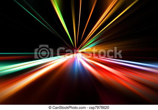 course, rapide, autoroute, nuit - csp7978620