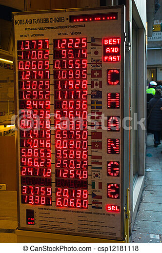 Course table of currency exchange offices currency - Table of currency exchange rates ...
