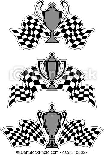 courses, sport, récompenses, trophées - csp15188827