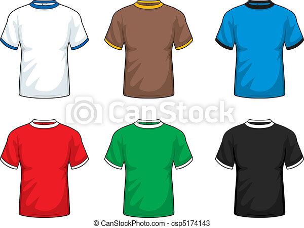 court, chemises, manche - csp5174143
