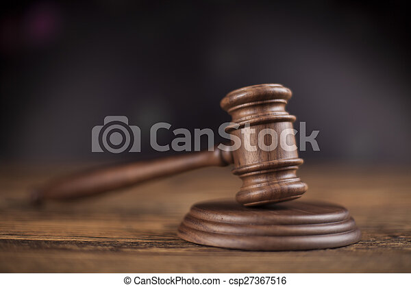 Court gavel,Law theme, mallet of judge - csp27367516
