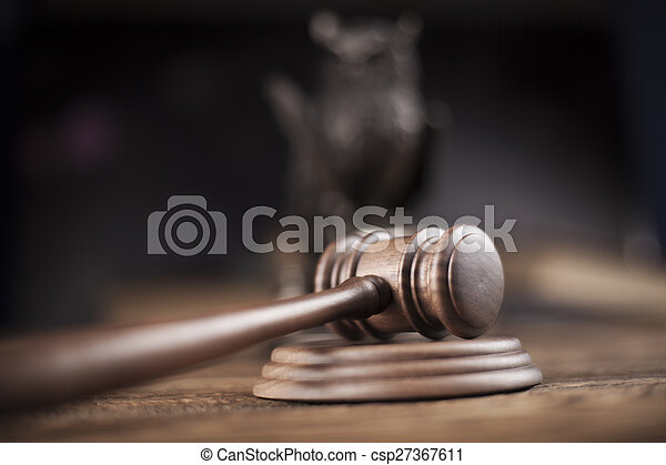 Court gavel,Law theme, mallet of judge - csp27367611