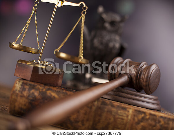 Court gavel,Law theme, mallet of judge - csp27367779
