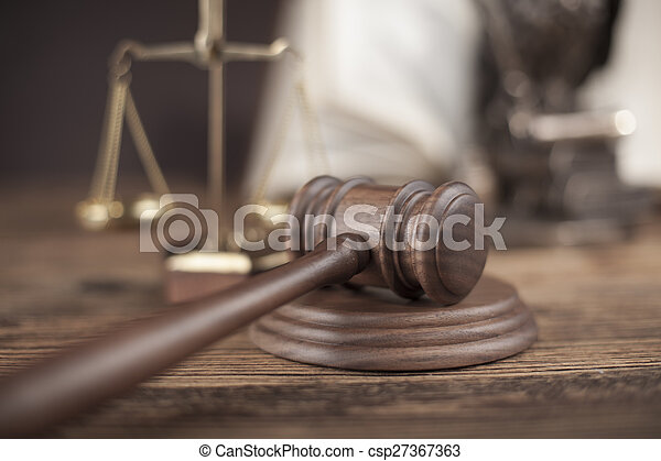 Court gavel,Law theme, mallet of judge - csp27367363