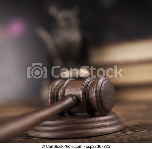 Court gavel,Law theme, mallet of judge - csp27367223