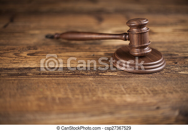 Court gavel,Law theme, mallet of judge - csp27367529