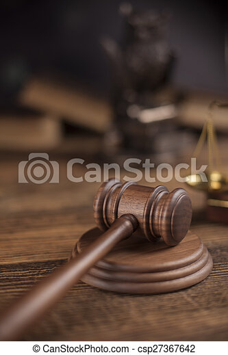 Court gavel,Law theme, mallet of judge - csp27367642