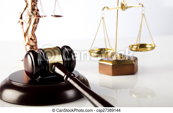 Court gavel,Law theme, mallet of judge - csp27389144