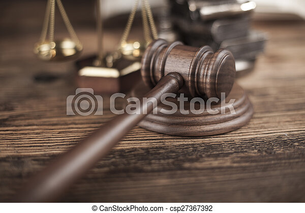 Court gavel,Law theme, mallet of judge - csp27367392