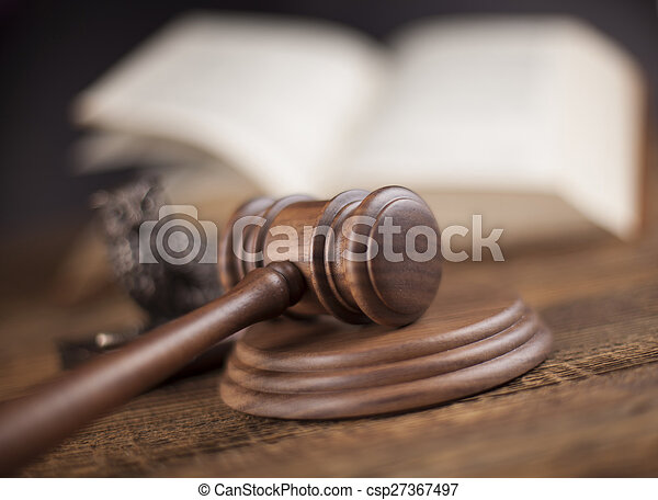 Court gavel,Law theme, mallet of judge - csp27367497