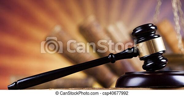Court gavel,Law theme, mallet of judge - csp40677992