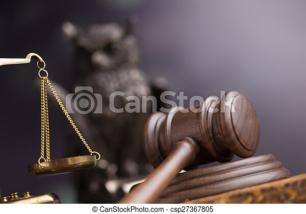 Court gavel,Law theme, mallet of judge - csp27367805