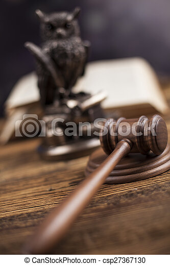 Court gavel,Law theme, mallet of judge - csp27367130