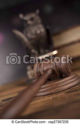 Court gavel,Law theme, mallet of judge - csp27367235