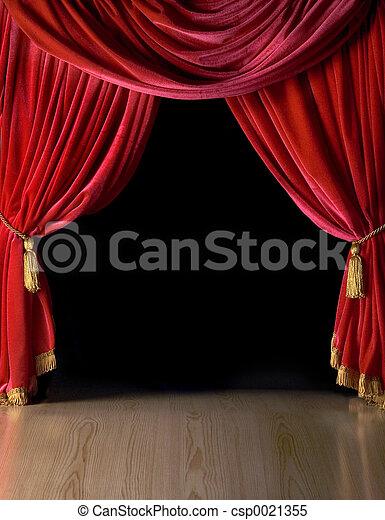 courtains, teatro - csp0021355