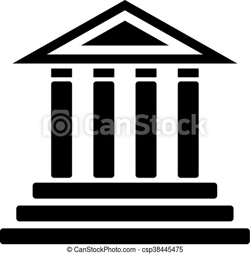 creative design of courthouse icon rh canstockphoto com