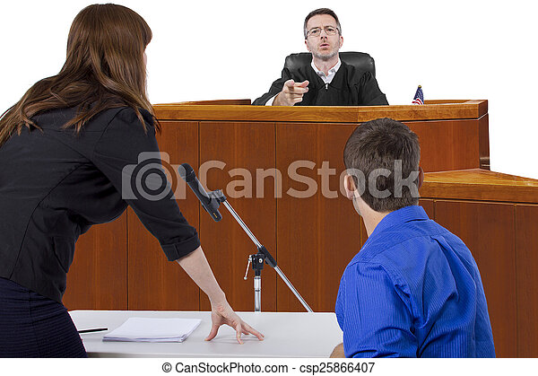 Courtroom Trial - csp25866407
