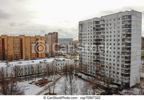 courtyard in a residential area - csp70897322