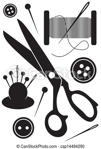 Couture outils ic nes ensemble ic nes couture noir - Dessin de couture ...