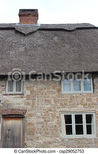 couvert chaume, cottage. - csp29052753