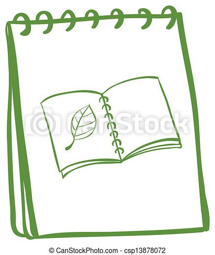 Couverture Livre Page Cahier Dessin Couverture Cahier Illustration Livre Dessin Fond Page Blanc