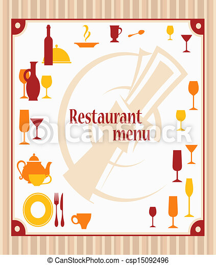 Cover of restaurant menu - csp15092496