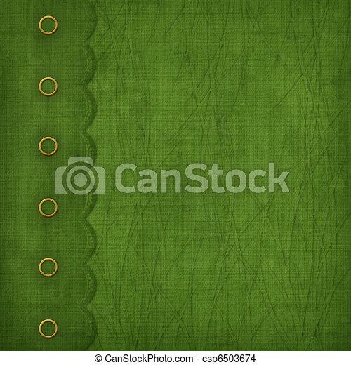 Cover with gold clip and  braid. Design album for St. Patrick's Day - csp6503674