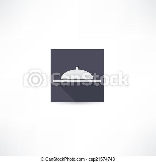 covered dish icon - csp21574743