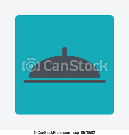 covered dish icon - csp18578502