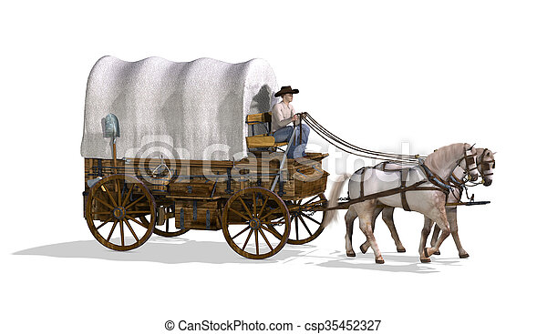 Covered Wagon - csp35452327