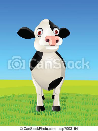 Cow cartoon - csp7003194