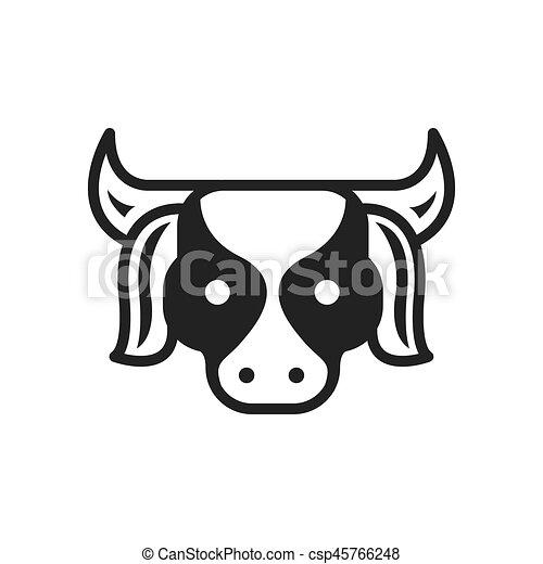 Cow Farm icon black color - csp45766248