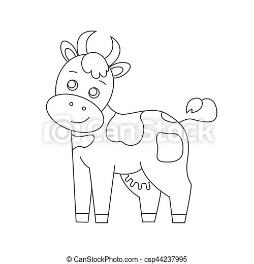 Cow for coloring book. line art design.isolated on white... eps ...