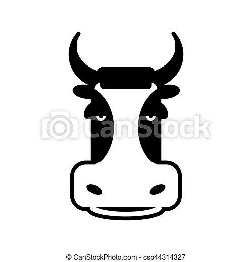 Cow Head Sign Bull Face Symbol Farm Animal