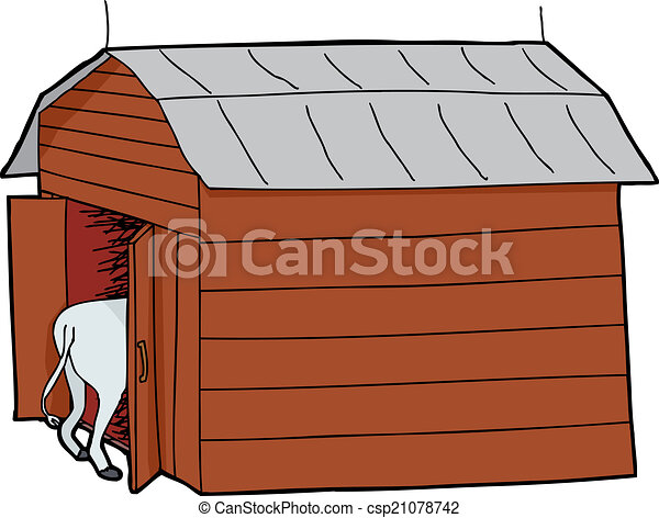 Cow In Small Barn