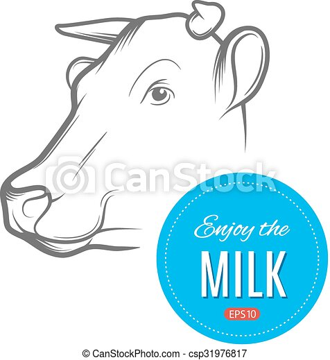 Cow milk logo - csp31976817