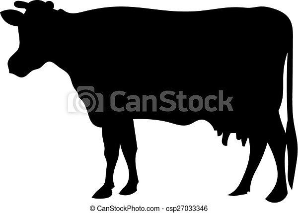 Cow silhouette - csp27033346