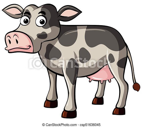 Cow with happy face - csp51636045