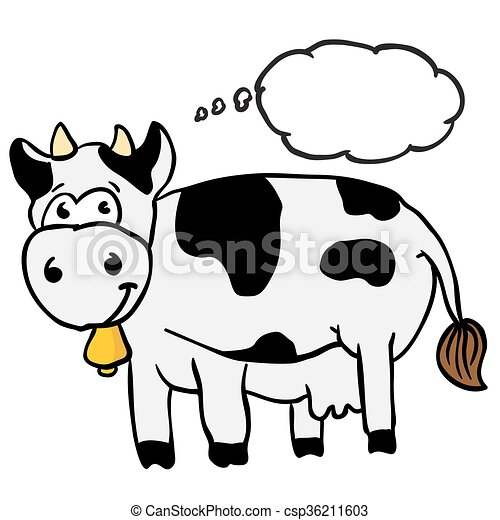 cow with thought bubble - csp36211603