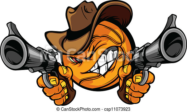 Cowboy Basketball Cartoon Shootout - csp11073923